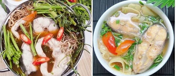Cách nấu lẩu cá basa và canh măng chua cá basa
