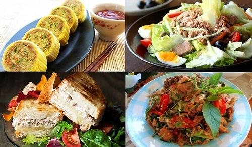 Các món ăn chế biến từ cá ngừ ngâm dầu