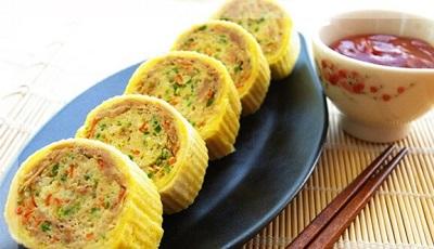 Trứng cuộn cá ngừ vừa ngon vừa đẹp mắt