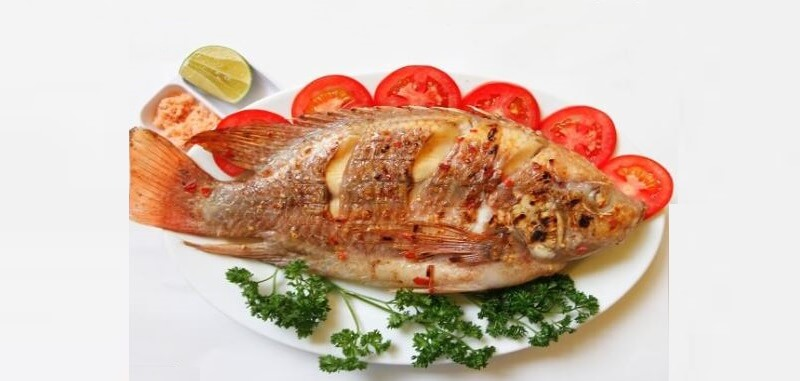 Cá chép nướng muối ớt