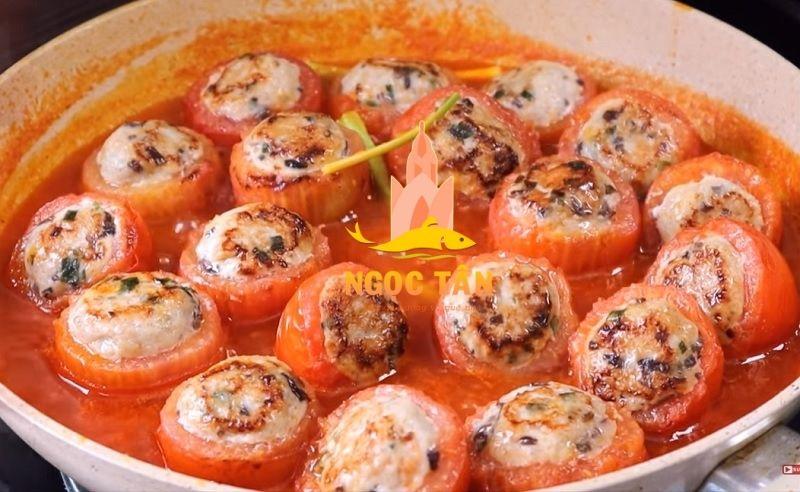 Chả cá dồn cà chua
