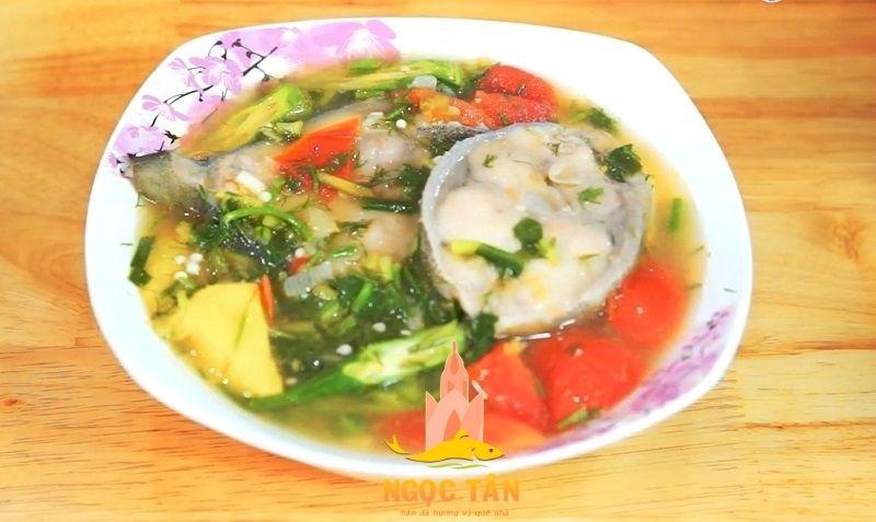 cá bớp nấu canh chua